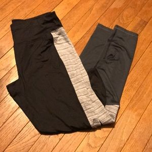 Black/Gray Leggings NWOT